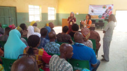 Ann Swanson addressing the parents and teachers of the Deaf at Kuje, Abuja