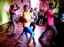 Deaf young people practising a dance for Naija Deaf Got Talent Show