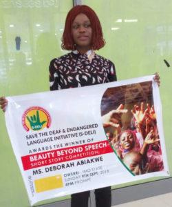 Beauty Beyond Speech Short Story Winner